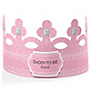 Pink - Daddy-To-Be-Crown - Personalized Baby Shower Gift