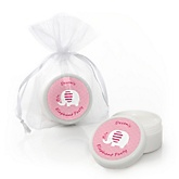 Pink Baby Elephant - Personalized Baby Shower Lip Balm Favors
