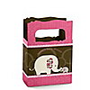 Pink Baby Elephant - Personalized Baby Shower Mini Favor Boxes