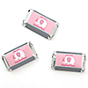 Pink Baby Elephant - Personalized Baby Shower Mini Candy Bar Wrapper Favors - 20 ct