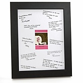 Pink Baby Elephant - Personalized Baby Shower Print with Signature Mat