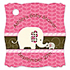 Pink Baby Elephant - Personalized Baby Shower Tags - 20 ct
