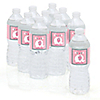 Pink Baby Elephant - Personalized Baby Shower Water Bottle Label Favors