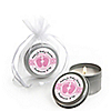 Baby Feet Pink  - Personalized Baby Shower Candle Tin Favors