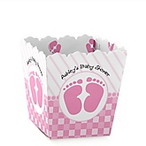 Baby Feet Pink - Personalized Baby Shower Candy Boxes