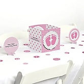 Baby Feet Pink - Baby Shower Centerpiece & Table Decoration Kit