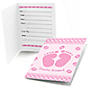 Baby Feet Pink - Fill in Baby Shower Invitations - 8 ct