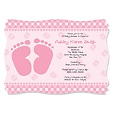 Baby Feet Pink - Girl Baby Shower Invitations