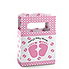 Baby Feet Pink - Personalized Baby Shower Mini Favor Boxes