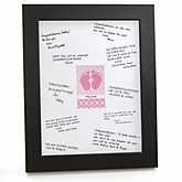 Baby Feet Pink - Personalized Baby Shower Print with Signature Mat