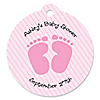 Baby Feet Pink - Personalized Baby Shower Tags - 20 ct