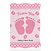 Baby Feet Pink - Personalized Baby Shower Thank You Cards