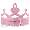 Pink - Grandma-To-Be-Tiara - Personalized Baby Shower Gift