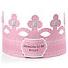 Pink - Grandpa-To-Be-Crown - Personalized Baby Shower Gift