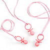 Pink Pacifier Necklaces - Baby Shower Game - 12 ct
