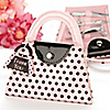 Pink Polka Dot Purse Manicure Set - Baptism Favor
