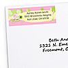 Pink Baby Turtle - Personalized Baby Shower Return Address Labels - 30 ct
