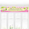 Pink Baby Turtle - Personalized Baby Shower Banners
