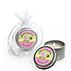 Pink Baby Turtle - Personalized Baby Shower Candle Tin Favors