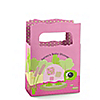 Pink Baby Turtle - Personalized Baby Shower Mini Favor Boxes