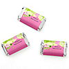Pink Baby Turtle - Personalized Baby Shower Mini Candy Bar Wrapper Favors - 20 ct