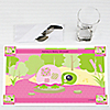 Pink Baby Turtle  - Personalized Baby Shower Placemats