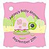 Pink Baby Turtle - Personalized Baby Shower Tags - 20 ct