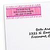 Pink Zebra - Personalized Birthday Party Return Address Labels - 30 ct
