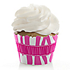 Pink Zebra - Birthday Party Cupcake Wrappers