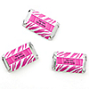 Pink Zebra - Personalized Birthday Party Mini Candy Bar Wrapper Favors - 20 ct