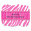 Pink Zebra - Personalized Birthday Party Squiggle Stickers - 16 ct