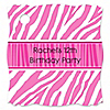 Pink Zebra - Personalized Birthday Party Tags - 20 ct
