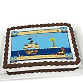 It's A-Boy Mates! Pirate - Personalized Baby Shower Cake Image Topper