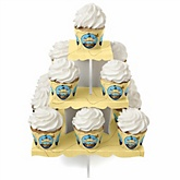 It's A-Boy Mates! Pirate - Baby Shower Cupcake Stand & 13 Cupcake Wrappers