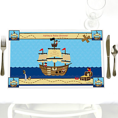 Pirate Personalized Baby Shower Place mat