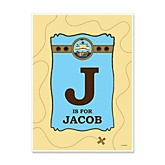 It's A-Boy Mates! Pirate - Personalized Baby Shower Poster Gifts