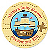 It's A-Boy Mates! Pirate - Personalized Baby Shower Sticker Labels - 24 ct