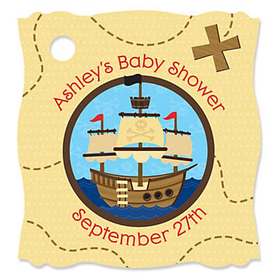 Pirate Personalized Baby Shower Tags