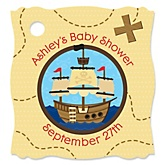 It's A-Boy Mates! Pirate - Personalized Baby Shower Tags - 20 Count