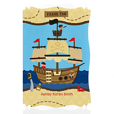 pirate baby shower thank you cards thumb