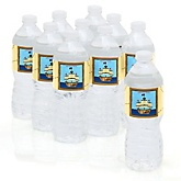 It's A-Boy Mates! Pirate - Baby Shower Personalized Water Bottle Sticker Labels - 10 Count