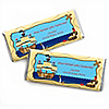 Ahoy Mates!  Pirate - Personalized Birthday Party Candy Bar Wrapper Favors