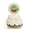Ahoy Mates!  Pirate - Personalized Birthday Party Cupcake Pick and Sticker Kit - 12 ct