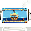 Ahoy Mates!  Pirate - Personalized Birthday Party Placemats