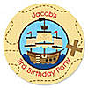 Ahoy Mates!  Pirate - Personalized Birthday Party Sticker Labels - 24 ct