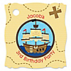 Ahoy Mates! Pirate - Personalized Birthday Party Tags - 20 ct