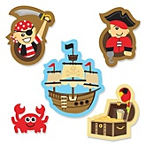 It's A-Boy Mates! - Pirate - Shaped Party Paper Cut-Outs - 24 ct