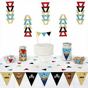 It's A-Boy Mates! Pirate - Baby Shower Triangle Decoration Kits - 72 Count