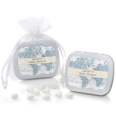 Precious Cargo - Blue - Personalized Baby Shower Mint Tin Fa...
