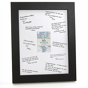 Precious Cargo - Blue - Personalized Baby Shower Print with Signature Mat